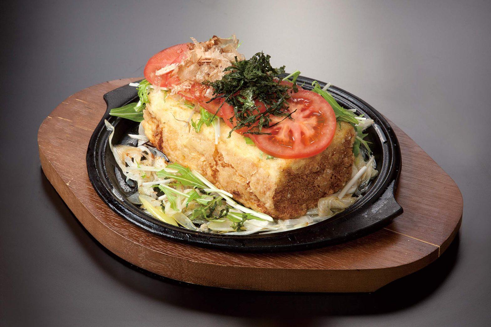 自家製豆腐の揚げ出しステーキ